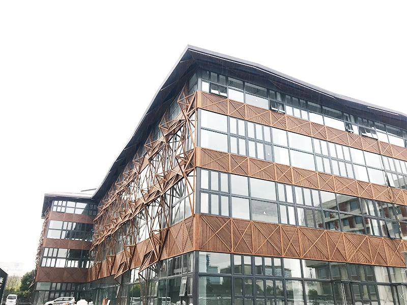 中碳化-上海外墙钢结构竹板工程